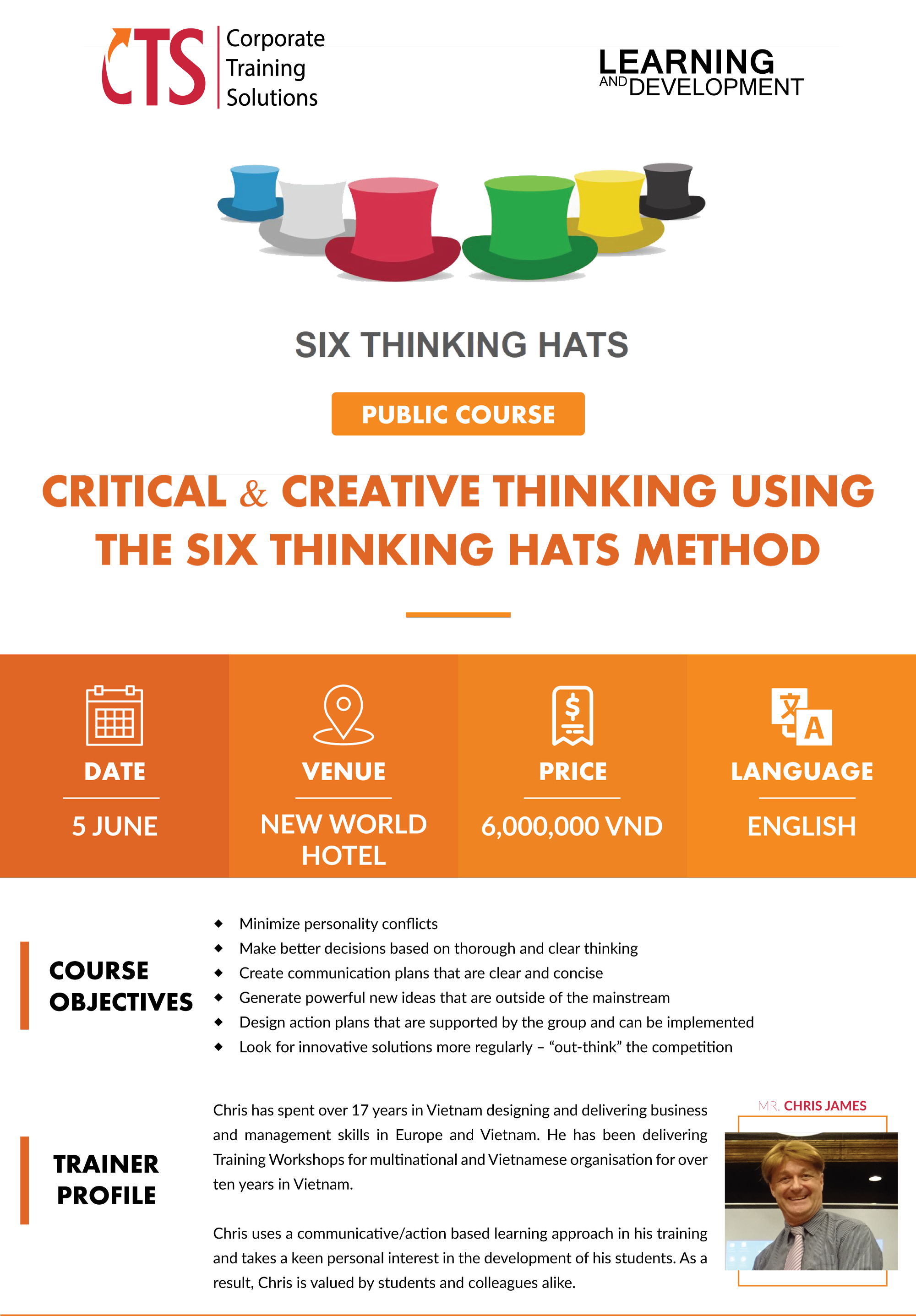 Critical And Creative Thinking Using The Six Thinking Hats Method